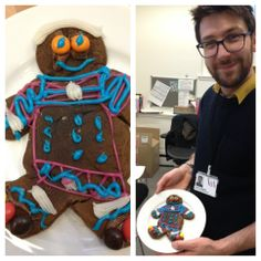Alex showing his magnificent gingerbread man