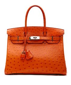 Tangerine Ostrich Birkin ... bc outrageously priced purses should only come in outrageous colors!