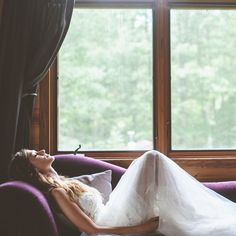 """Brides.com: Our Favorite Wedding Photographers Choose Their Best Shots. """"The wedding day can be so hectic; moments of peace and reflection are rare. This photo was taken minutes before the bride was to see her groom for their first look.""""  — Michelle Hoffner, Paper Antler"""