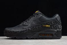 Nike #AirMax 90 Black Black Amarillo Yellow BQ4685 001 Mens