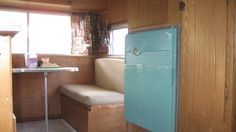 My '64 Aladdin Trailer!  Love this fridge!
