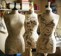 June uses mannequins to sew her wedding dresses. She swears she'll never sew a wedding dress again for herself because she is NEVER getting married again.   From June's Lace in the anthology Beach Season.