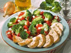 Hähnchen-Filet auf Gemüse
