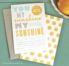 You Are My Sunshine Birthday Party Printable von oliveandiris, $25.00