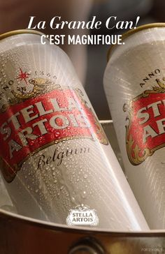 Our cans of Stella A