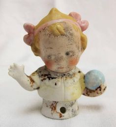 adorable vintage half doll child