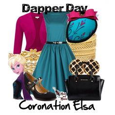 """Dapper Day Coronation Elsa"" by hatandmouse on Polyvore"