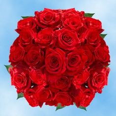 125 Red Premium Roses | Freedom Roses | 24-28 Inches Long Stem | Fresh Flowers Express Delivery | Perfect for Birthdays, Anniversary or any occasion. -- See this great product.