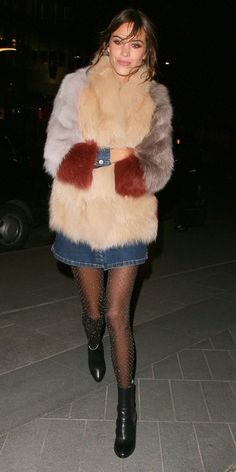 Shop our favorite big fur coats inspired by fashionista Alexa Chung.