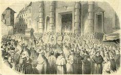 3 janvier 1852 - Translation des reliques de sainte Geneviève de l'église Saint-Étienne-du-Mont à l'église Sainte-Geneviève.