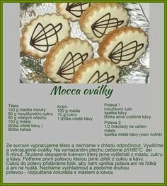 Christmas Goodies, Christmas Candy, Christmas Baking, Czech Recipes, Oreo Cupcakes, Mocca, Coffee Cake, Sweet Recipes, Sweet Tooth