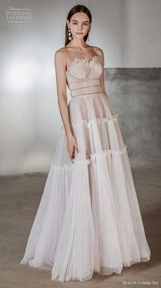 Exquisitely detailed and effortlessly romantic gowns for the modern bride. Dresses To Wear To A Wedding, Dream Wedding Dresses, Bridal Dresses, Gala Dresses, Spring Dresses, Casual Dresses, Formal Dresses, Lovely Dresses, Designer Dresses