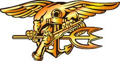 This picture is a Navy SEAL trident. It is the symbol for members of the Navy SEAL teams. When Chris joined the SEAL team, he wanted a tattoo. His first thought was the get one of the symbolic trident. He decided not to get that as his tattoo, because he felt like he hadn't proved himself yet. He wanted the trident tattoo to symbolize what he had done as a SEAL, not that he had just gotten into the SEAL team.