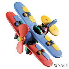 Biplane Multicolor Construction Kit
