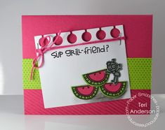 Card by PS DT Teri Anderson using PS Alfresco stamps/dies, Kissables 2, Paper die