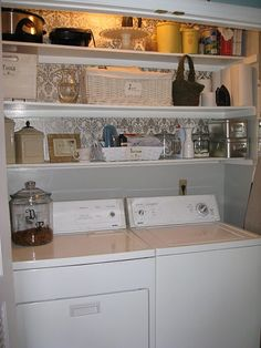 This is nice for small laundry rooms! tldempsey