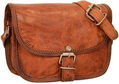 """nice Gusti Leder nature """"Holly"""" Genuine Leather Satchel Handbag Shoulder Cross-Body Bag Messenger Party Festival Everyday Vintage Unisex Brown H4"""