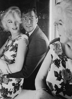 "True Friends: Dean Martin Marilyn Monroe on the set of ""Something's Got To Give."" This was her last, unfinished film. When Fox tried to fire her, Martin stood firm and said he would quit if they did. ""No Marilyn"", he said, ""no Dean."""