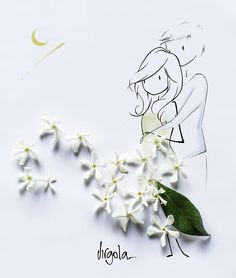 ImageFind images and videos about text on We Heart It - the app to get lost in what you love. Art And Illustration, Illustrations, Art Floral, Flower Petals, Flower Art, Flowers, Vincent Bal, Pin Art, Drawing Tips