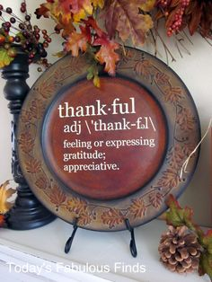 Today's Fabulous Finds: {Thankful} Decorative Charger