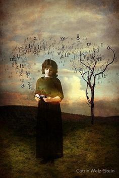 The Letters by Catrin Welz-Stein Art, posters and prints of a woman or women… Art Magique, Image Originale, Art Et Illustration, Arno, Surreal Art, Art Plastique, Old Pictures, Altered Art, Collage Art