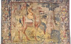 Mary Beard stumbles upon 'priceless set of Henry VIII tapestries' in New York City rug shop.    Henry VIII tapestry