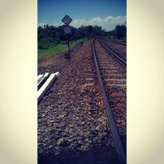 Railway at Nganjuk. December 25, 2013.