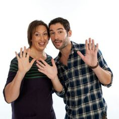 Miranda Hart and Tom Ellis :) or rather... Miranda & Gary :)