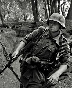 Very handsome German soldier, WWII