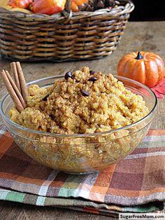 Creamy #Pumpkin #Quinoa | Good for breakfast, lunch or dinner! YUM!! Thank you @Sugar-Free Mom