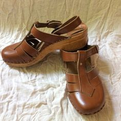 39  8.5 Vintage Swedish Clogs Sandals by sweetbunny on Etsy