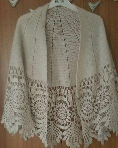 Crochet Poncho Patterns, Crochet Coat, Crochet Shawls And Wraps, Crochet Cardigan, Crochet Scarves, Baby Knitting Patterns, Crochet Clothes, Crochet Lace, Crochet Wedding