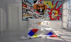 Pop Art, Pop Art Inspiration, Pop Art Decor, Pop Art Interior Design, Pop Art Interior, Pop Art Bedroom