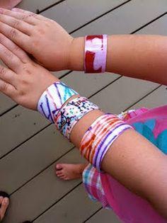 plastic bottle bracelets- tutorial