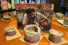 Dave the Potter by Laban Carrick Hill and Bryan Collier. Make your own pottery with and without a potter's wheel!
