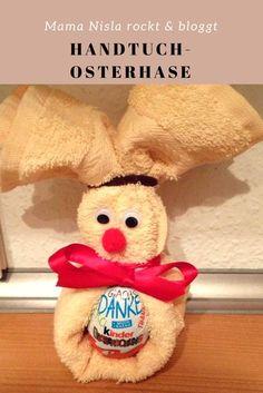 Ein tolles Geschenk zu Ostern aus einem Handtuch. Ganz einfach gemacht.