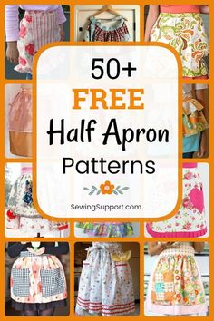 Free Half Apron Patterns Free Sewing Patterns: Browse over 50 Free Half Apron sewing patterns, tutorials, and diy projects. Sew vintage and retro half aprons, cute ruffle aprons, simple and easy waist aprons and more. Half Apron Patterns, Apron Pattern Free, Sewing Patterns Free, Free Sewing, Vintage Apron Pattern, Pattern Sewing, Dress Patterns, Diy Sewing Projects, Sewing Hacks