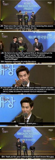 Suho's heartfelt speech | allkpop Meme Center