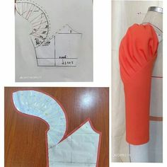 Sleeve pattern alteration that will create a lovely draping effect when sewn with pleats. Sleeve pattern alteration that will create a lovely draping effect when sewn with pleats. No automatic alt text available. 27 elegant photo of custom sewing patterns Sleeves Designs For Dresses, Sleeve Designs, Techniques Couture, Sewing Techniques, Dress Sewing Patterns, Clothing Patterns, Frock Patterns, Sewing Hacks, Sewing Tutorials