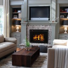 Ventless Space Heater Built-In Recessed Firebox Electric Fireplace