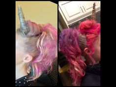 My Unicorn Hair Art made the Ellen DeGeneres Show! This is a step by step tutorial on how to create Unicorn Hair, the horn, mane & tail. Crazy Hair For Kids, Crazy Hair Day At School, Crazy Hair Days, Princess Hairstyles, Little Girl Hairstyles, Cute Hairstyles, Wacky Hair Days, My Little Pony Costume, Hair Dos