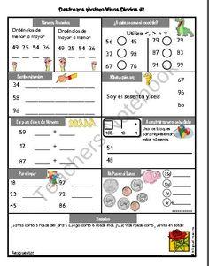 Destrezas Matematicas Diarias - Grado 2 y 3 product from Bilingual-Treasures on TeachersNotebook.com