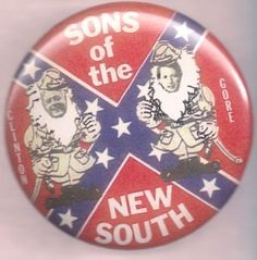 Will Hillary explain this Clinton-Gore button - both of them dressed in gray uniforms of the Confederacy with flag? (6/2015)