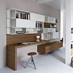 Bureau contemporain / en bois / avec étagère ALTERNO MobilificionGiacomo
