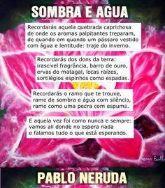 BIOGRAFIAS E COISAS .COM: SOMBRA E ÁGUA SONETO DE PABLO NERUDA