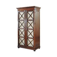 SIR WILLIAM EMERSON ARMOIRE CA- 726 SIZE: 44 1/2″ W X 24″ D X 92″ H WOOD: MAHOGANY