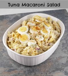 tuna macaroni salad with gluten free options Tuna Recipes, Cooking Recipes, Healthy Recipes, I Love Food, Good Food, Yummy Food, Tuna Macaroni Salad, Main Dish Salads, Other Recipes