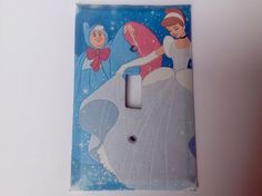 Disney Cinderella Light Switch Cover by MaplewoodBookArt on Etsy