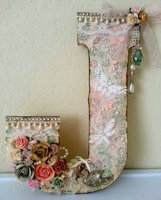 Shabby Chic Altered Wood Letter