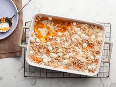 Old School Sweet Potato Souffle recipe from Patrick and Gina Neely via Food Network